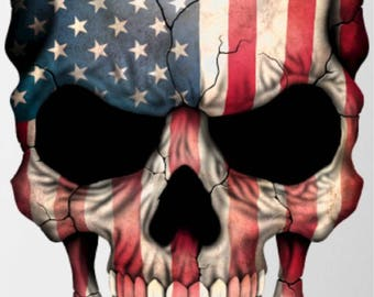 Skull USA Decal different sizes