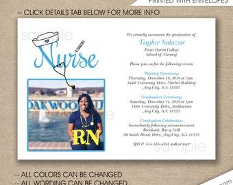 Nurse Graduation Invitations Rn Bsn Np Lpn Nurse By