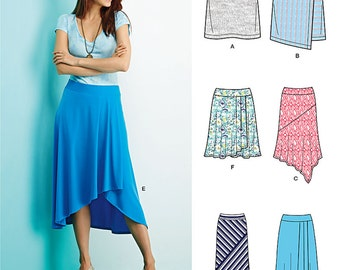 OUT of PRINT SimplicityPattern  1163 Misses' Knit Skirts with Length Variations