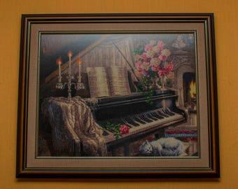 Gobelin Tapestry Handmade Candle Sonata Wall hanging