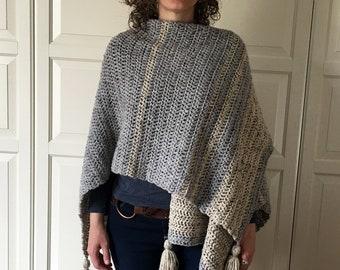 Crochet Poncho Pattern EASY, Crochet Ruana Pattern, Blanket Wrap, Easy Crochet Pattern, Cardigan, Easy Crochet Top, Blanket Shawl, PDF