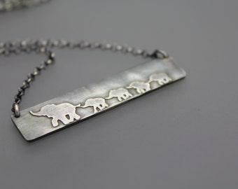 Mothers Day Necklace, Necklace For Mom, Grandma Necklace, Mothers Jewelry, Elephant Necklace, Elephant Jewelry, Mom Jewelry, Mom And Baby