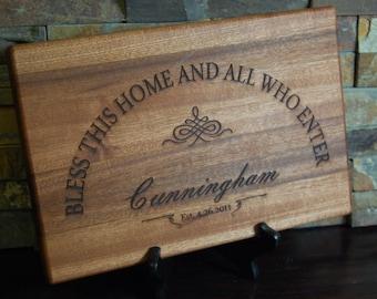 Personalized Cutting Board, Engraved Cutting Board, Custom Board, Wedding Gift, Anniversary Gift, Bridal Gift, Christmas Gift