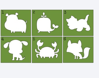Baby Animal Stencils for Painting Onesies - Onesie Painting Station - DIY Onesie - Onesie Decorating Kit