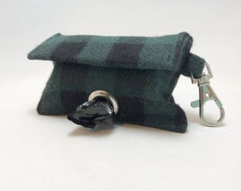 Poop Bag Holder · Poop Bag · Plaid Bag Dispenser· Plaid Poop Bag · Dog Owner Gift · Dog Accessory · Poop Bag Dispenser · Green Plaid ·