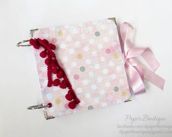 Girl Photo Album,Baby Pink Scrapbook Album,Baby Scrapbook,Handmade Baby Girl Photo Album,Newborn Keepsake Gift,Baby Girl Gift