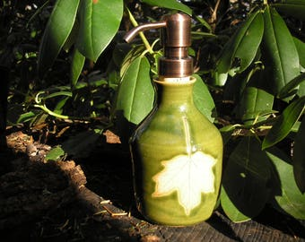 Sugar Maple Leaf Soap Dispenser Bottle