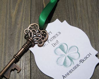 Bottle Opener - Personalized - St. Patrick's Day party favor - Corporate Gift -  Gag gift - Vintage - St. Patty's Day