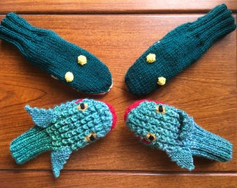 Animal Mittens for children. Keep them warm and feed their imaginations.