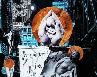 Birth Collage Art Print