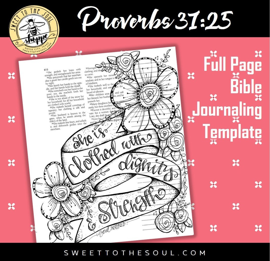 Soul Inspired Bible Journaling Template Proverbs