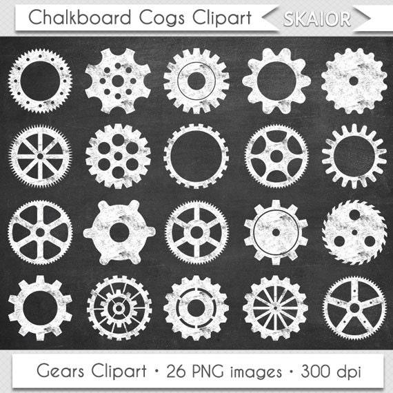 chalkboard gears clipart vector cogs clip art steampunk rh etsy com steampunk clip art borders steampunk clip art letters