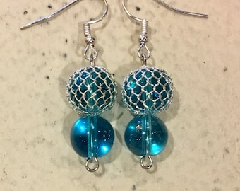 Turquoise Cage Earrings