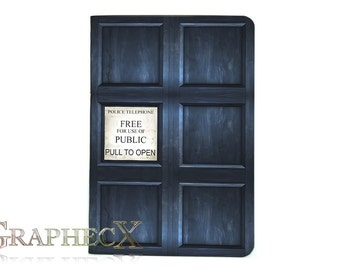 Doctor Who TARDIS River Song inspired personalized journal notebook