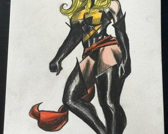 Captain/Miss Marvel 9 x 12 PRINT