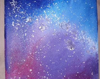 Crystal Galaxy Acrylic Canvas