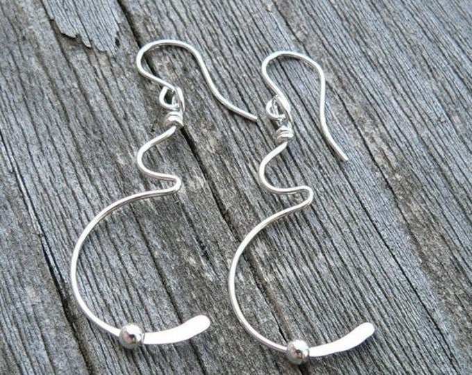 Tiny Movement Solid Sterling Silver Pregnancy Earrings - Birth, Baby, Mom, Newborn, Midwife Gift, Doctor Gift, Choose Ear Wire or Leverback