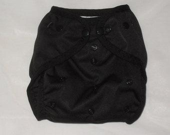 Black PUL Diaper Cover