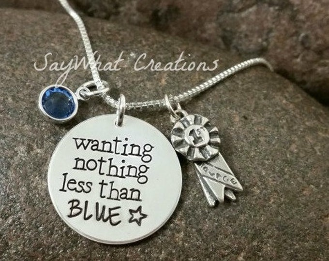 Horse Show Necklace Wanting Nothing Less than BLUE