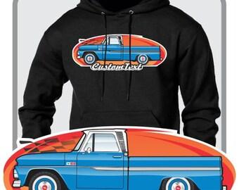Custom Art Hoodie 1964 1965 1966 GMC Chevy Chevrolet C-10 C10 pickup Truck