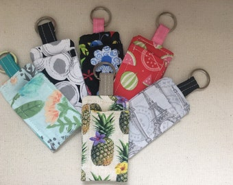 key holder with pouch lipstick