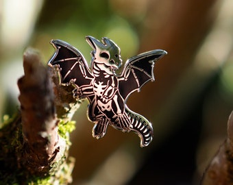 Skeleton Dragon Hard Enamel Pin