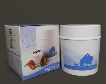 Yogotherm Yogurt Maker Yogurt Making Kit with Three Cultures and 3 Vanilla Beans