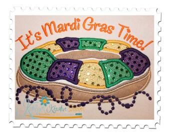 Mardi Gras King Cake Applique