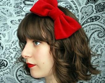Highland Holiday- Red Velvet Hair Bow