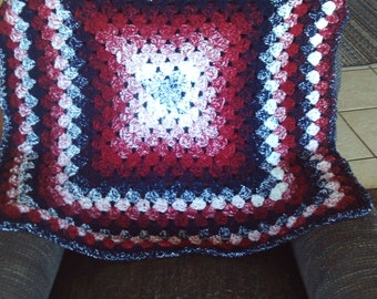 Lapghan,cover,gift,seniors,babies,kids,adults,crocheted,navy,burgandy,white