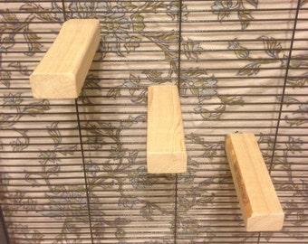 Set of 3 small Kiln Dried Pine Chinchilla Ledges + Mounting Hardware