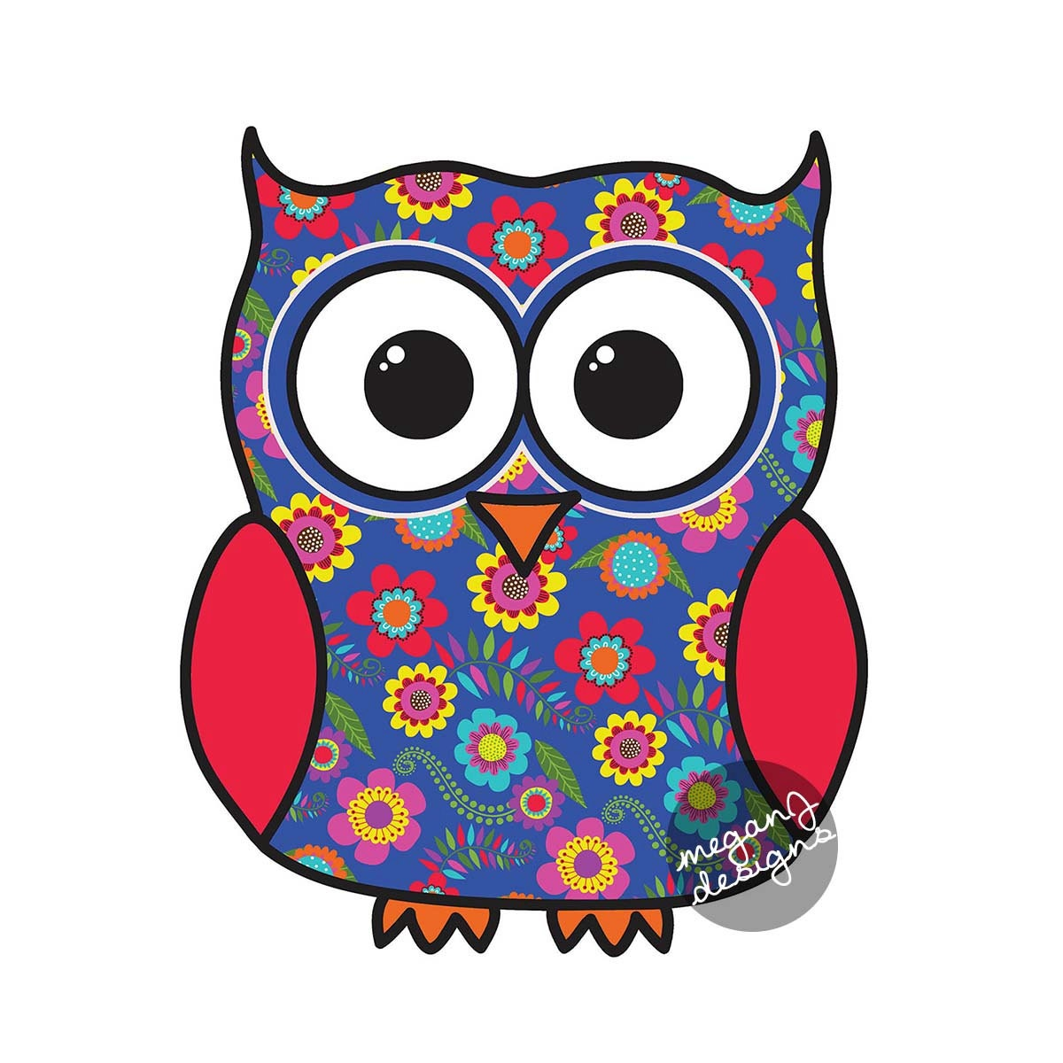 Colorful owl designs