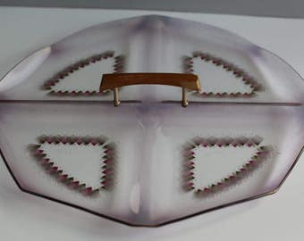 Retro pink serving tray