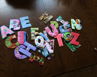 Learning Letters Alphabet Letters Cloth Letters