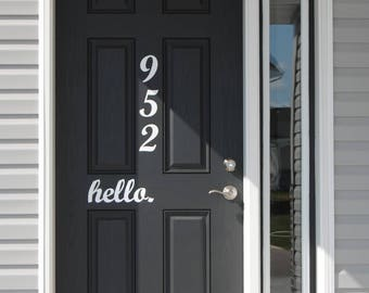 House Address Numbers (VINLY)-Free Shipping (address, address number, house number, vinyl label, house, home decor, front door)