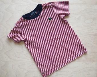 Vintage Kid's Polo 'Ralph Lauren Yacht Club' Striped T-Shirt