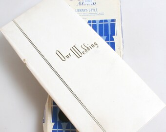 Vintage Photo Album//1960s Photo Album//Wedding Album//DIY