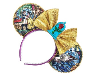 Beauty and the Beast Mouse Ears | Belle Mouse Ears |  Beauty and the Beast | Mouse Ears Headband | Mouse Ears