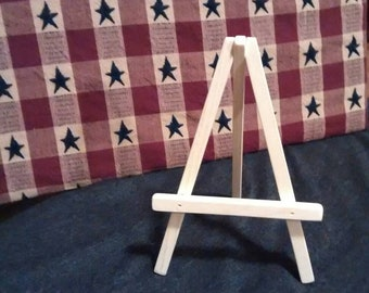 Mini wood easel, unfinished easel, wood picture holder, wedding decorations, display stand, country decor, craft supplies, art display easel