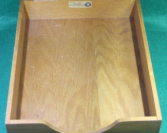 Vintage Industrial Office Hedges Line #1721 File in - Box  tray Organizer