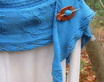 Shawl pin jewelry Sweater pin Scarf pin Terracotta handmade pottery