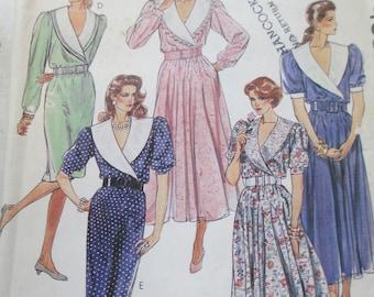 Dress Paper Pattern uncut used Size 8  McCalls 4682