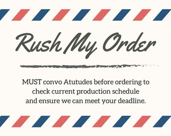 TUTU Dress Rush Charge - Must Contact Atutudes before ordering to check schedule