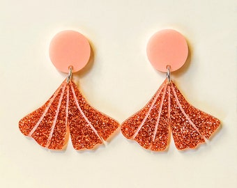 EARRINGS | Rose Gold Gingko : Big And Fancy Leaf Hello Miss May Drop Earrings