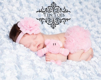 Pink Flower Baby Headband, Lotus Flower, Photography Prop, Newborn Gift, Baby Gift, Photo Shoot, Special Occasion