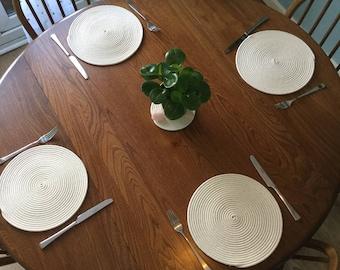 4 circular rope table place mats