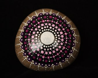 Painted Rock/Stone - dot mandala, lovely birthday gift