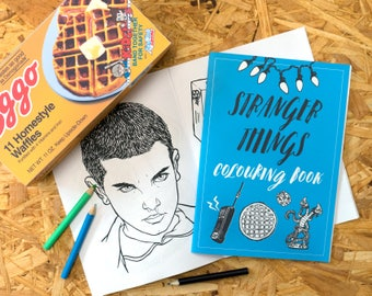 Stranger Things Colouring Book, eleven, the upside down, adult colouring book, geek gift, steve harrington, eggos, stocking filler
