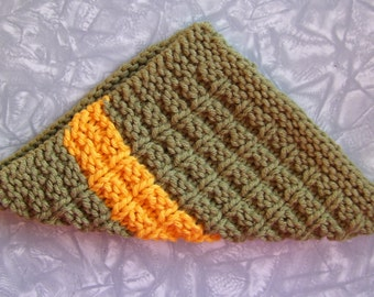 Autumn Knit cotton dishcloth, knit cotton washcloth, Home Decor