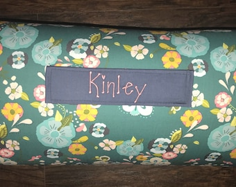 """Personalized Preschool Nap Mat in Art Gallery Floral Floats Fresh with Removable Pillow,  blanket and 1"""" memory foam"""